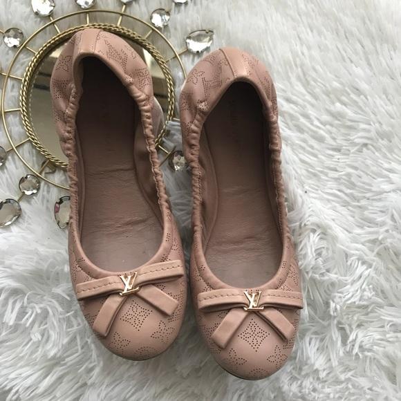 6fb5e723a86c Louis Vuitton Shoes - Louis Vuitton Monogram Leather Elba Ballerina Flat